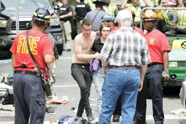 המפגינים ניסו להיראות כל-אמריקאים. הפיגוע בשרלוטסוויל, אוגוסט 2017