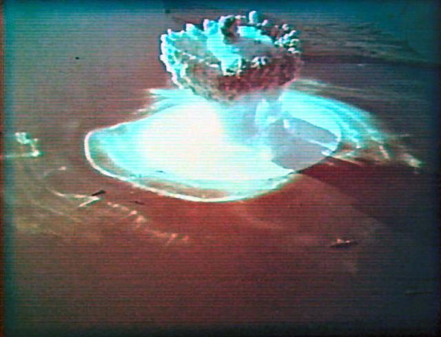 Πρώτη υποβρύχια πυρηνική έκρηξη στην ΕΣΣΔ στη Νόβαγια Ζεμλιά που πραγματοποιήθηκε στις 21 Σεπτεμβρίου του 1955 ©Φωτογραφία:Ένοπλες δυνάμεις της ΕΣΣΔ