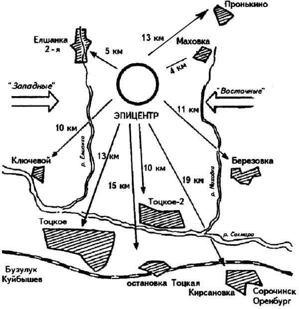 Χάρτης του πεδίου Τότσκοε