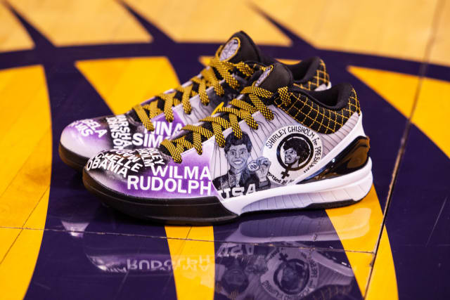 "For All-Defensive team mainstay Briann January, a variety of impactful women, including Maya Angelou, Michelle Obama and Wilma Rudolph, are highlighted along the purple toe box of her retro Kobe sneakers.Along the main panel, a portrait depicts Shirley Chisholm, who in 1968 became the first African American woman elected to the U.S. Congress. Four years later, she became the first woman to run for president in one of the two major parties, and January's pair features Chisholm's official presidential campaign artwork.""I'm, like, speechless right now,"" January said upon receiving the shoes. ""All these women, they were phenomenal in their own right. Through their own channels, they pushed for better."""