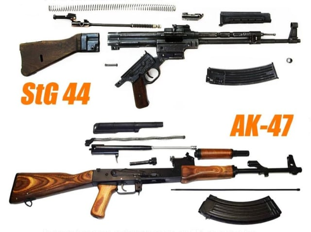 Aunque por fuera sean parecidos, en su interior los dos fusiles son completamente distintos.