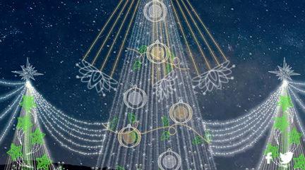 En el Parque El Tunal podrás encontrar el tradicional árbol de Navidad , de 56 metros de altura y su estrella de 6 metros con 100.000 bombillos led de alta eficiencia lumínica.El imponente árbol se articula con otros dos, de 15 metros de altura, y con más de 20.000 bombillos cada uno, los cuales, a su vez, se unen por medio de unas cortinas lumínicas para un total de 160.000 bombillos que iluminan este parque.