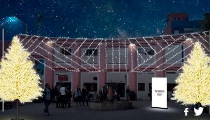 Después de observar el show en la Plaza de Bolívar, puedes caminar hacia un lugar emblemático en el centro histórico de la ciudad, El Chorro de Quevedo , donde las luces y la decoración también se encienden para darle más color y luz a la plazoleta más tradicional de la ciudad.