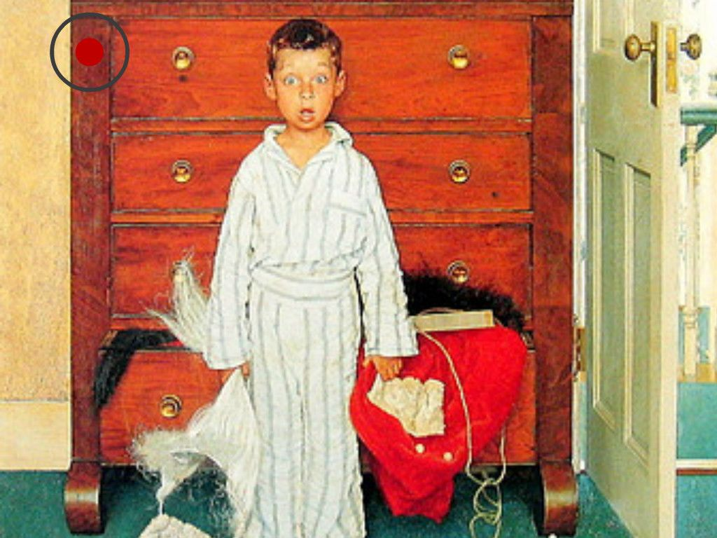 Can You Find The Red Dot Hiding In Each Of These Norman Rockwell ...